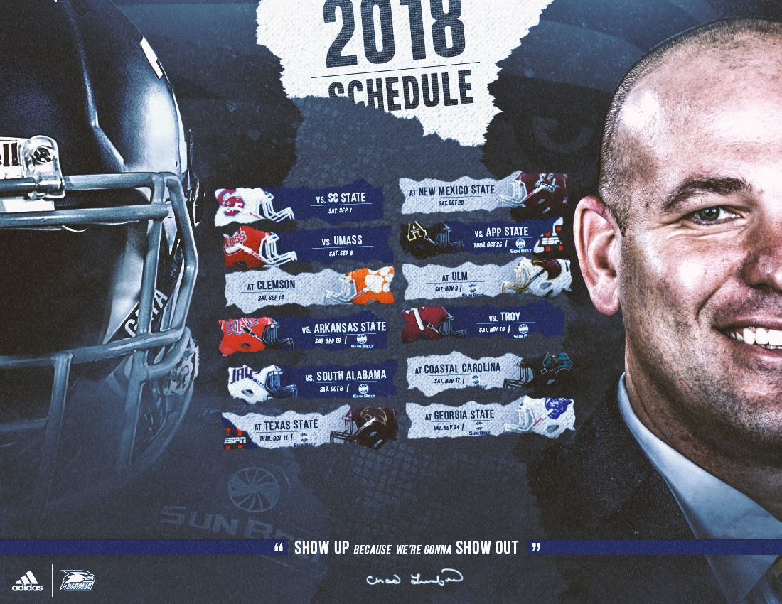 2018 Southern football schedule on Behance