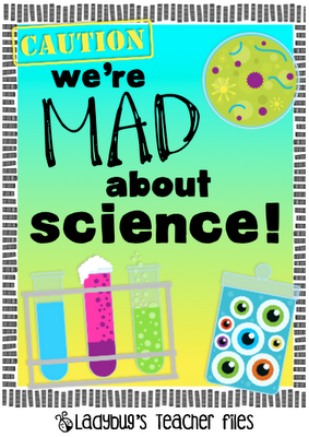 image relating to Printable Mad Science Sign titled Ended up Insane With regards to Science indication printable SecondGradeSquad