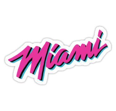 Miami Heat Vice Sticker By Nicmart In 2020 Miami Heat Miami Heat Logo Miami