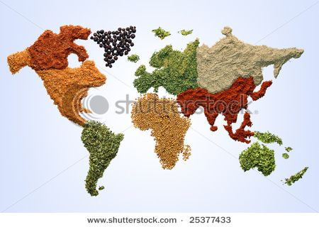 World map with spices and herbs Herbs and spices Pinterest - copy interactive world map amazon