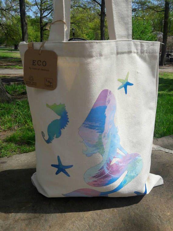 e0f75690350b Under the Sea Mermaid bag, Eco Friendly bag, Beach bag, tote ...