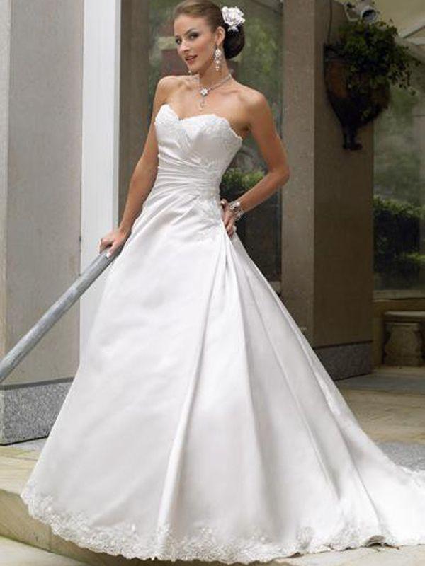 vestidos de novia para delgadas y poco busto. muchas mujeres se