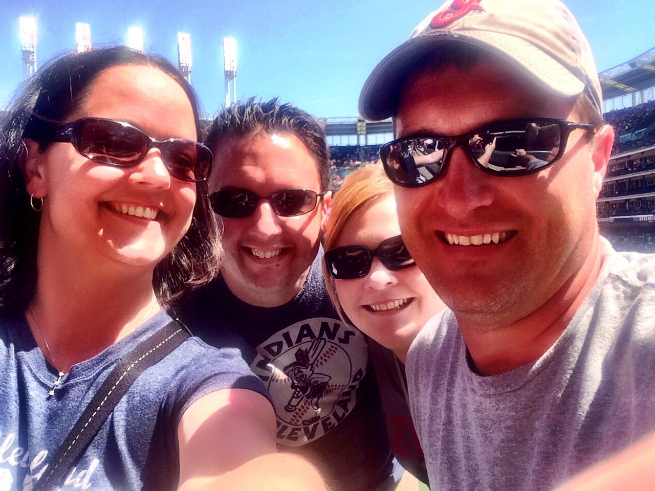 Chief Meteorologist Eric Wilhelm, his wife Megan and friends at a