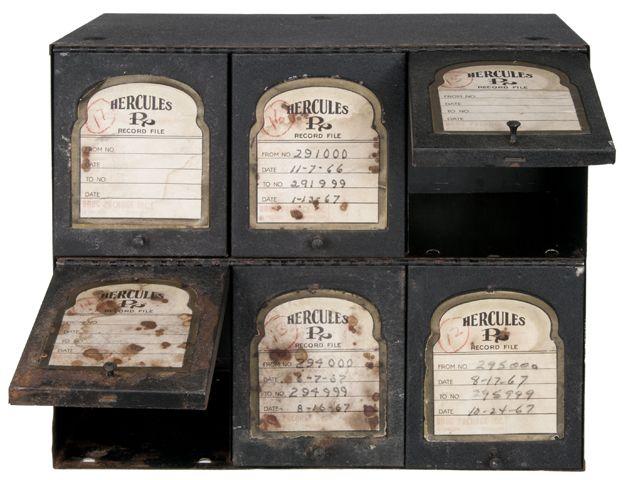 Vintage Hercules Pharmacy Prescription Storage Cabinet Relique
