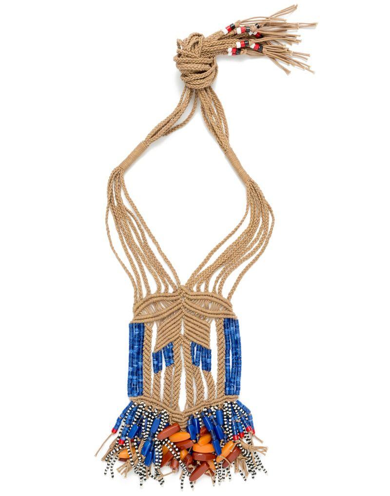 JEWELLERY Interweaved necklace BLUE