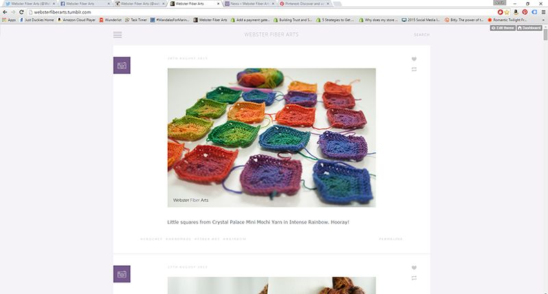 Webster Fiber Arts on tumblr: http://websterfiberarts.tumblr.com/
