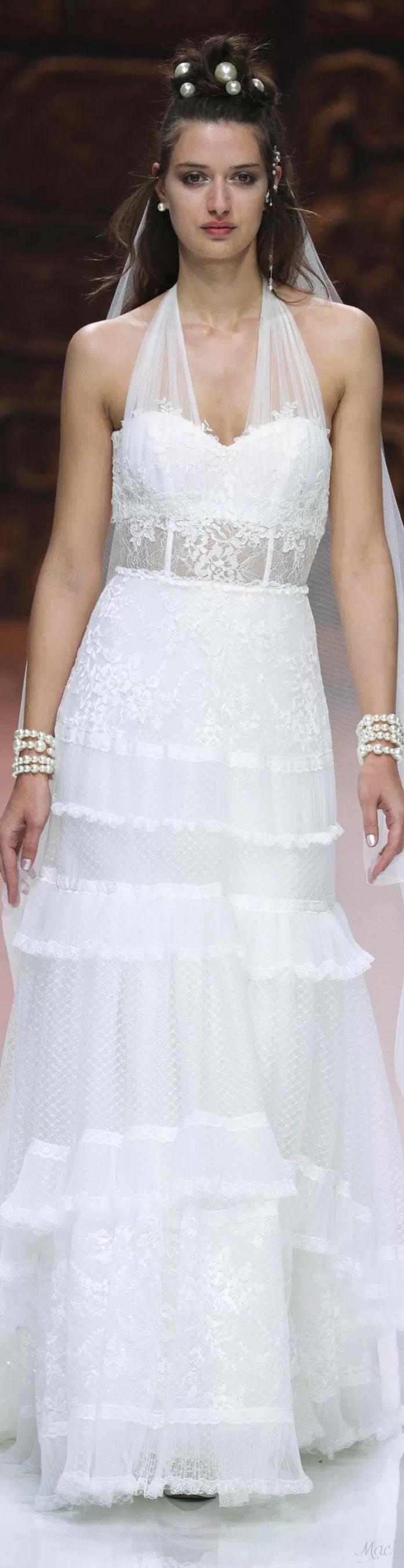 Lace v neck maxi dress april 2019 Spring  Bridal Immaculada Garcia  Spring  Bridal  Pinterest