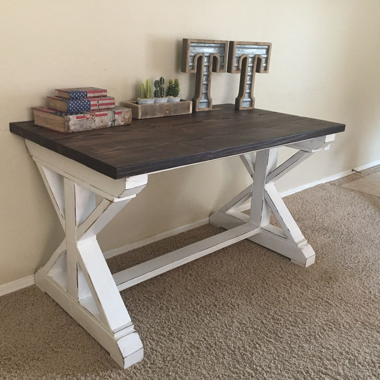 Custom rustic farmhouse desk entryway tables rustic