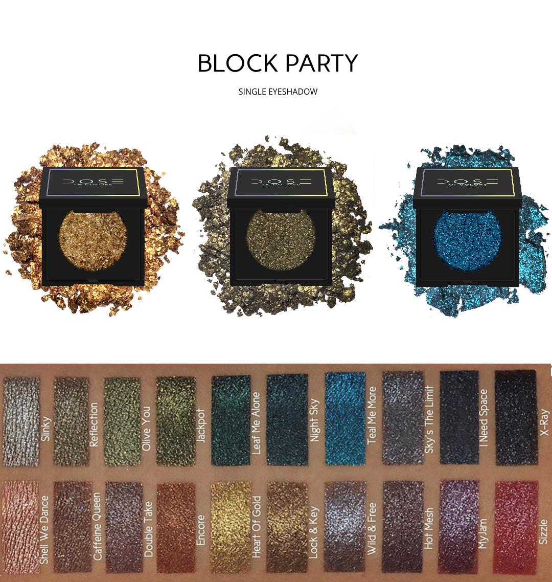 Dose Of Colors Block Party Single Eyeshadow Un Fard A Paupieres Unique En Son Genre Qui Deborde De Reflets Dose Of Colors Eyeshadow Dose Of Colors Eyeshadow