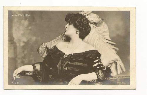 Elegance - FLO ALLEN Stage Actress RPPC Vtg 1910 Photo Postcard $13.75