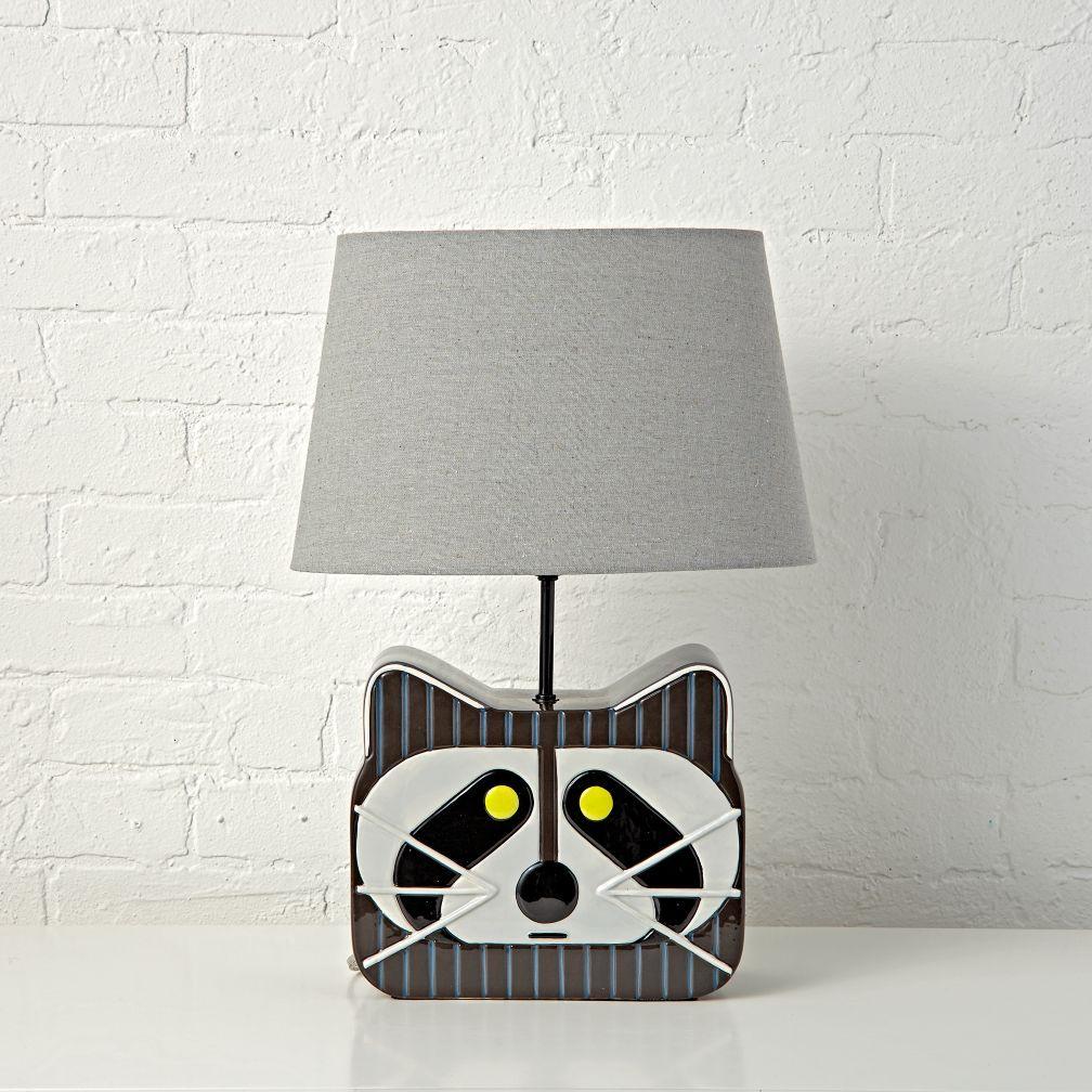 Charley harper raccoon table lamp bedding decor spaces and charley harper raccoon table lamp geotapseo Gallery