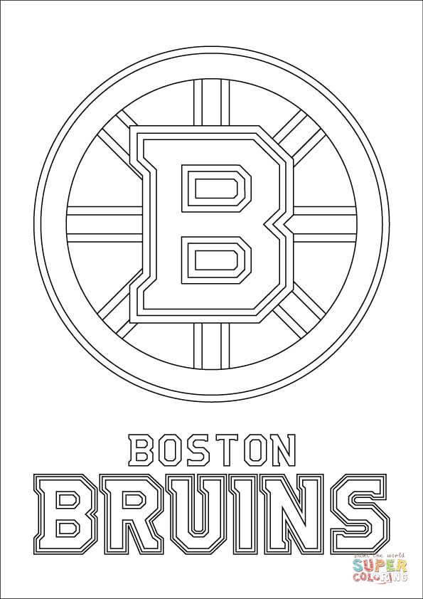 boston bruins logo nhl hockey sport coloring pages printable and coloring book to print for free find more coloring pages online for kids and adults of - Chicago Blackhawks Coloring Pages