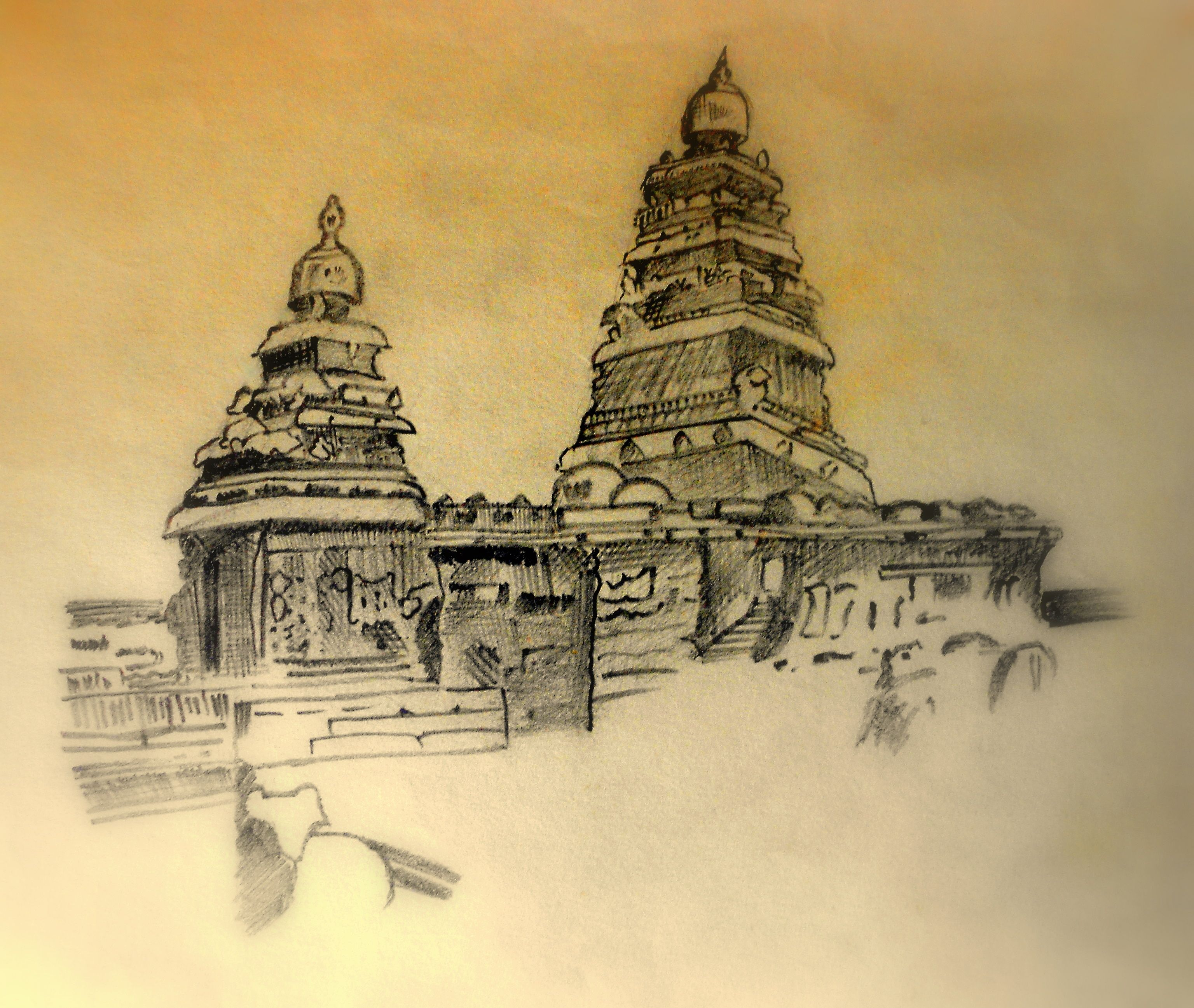Easy Temples Of Tamilnadu To Draw Google Search Temple Drawing