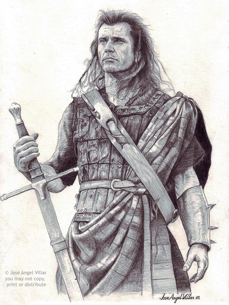 William Wallace Braveheart By Joseangelvillar On Deviantart William Wallace Braveheart 2pac Art