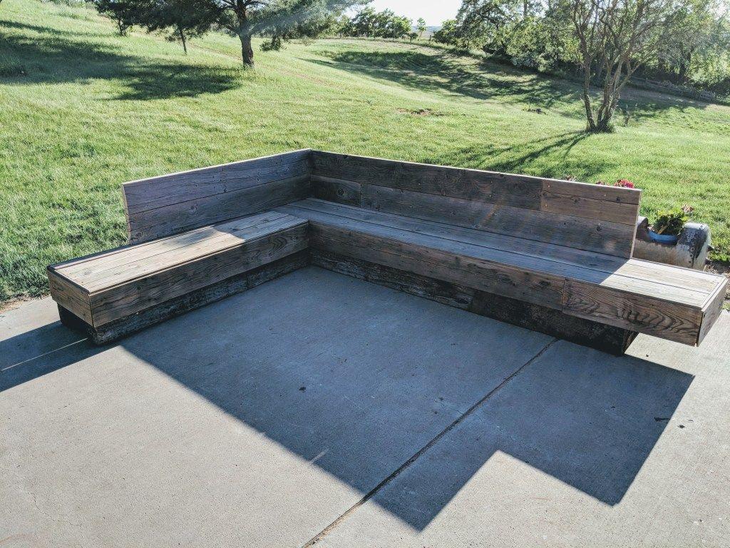 Diy patio sectional my happy simple living diy patio