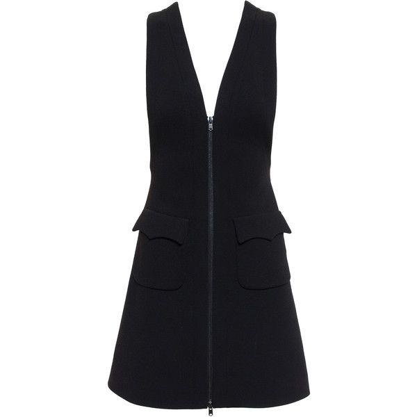 AZZEDINE ALAÏA (1.815.195 CLP) ❤ liked on Polyvore featuring dresses, sleeveless dress, no sleeve dress, alaïa, sleeveless wool dress and alaia dress