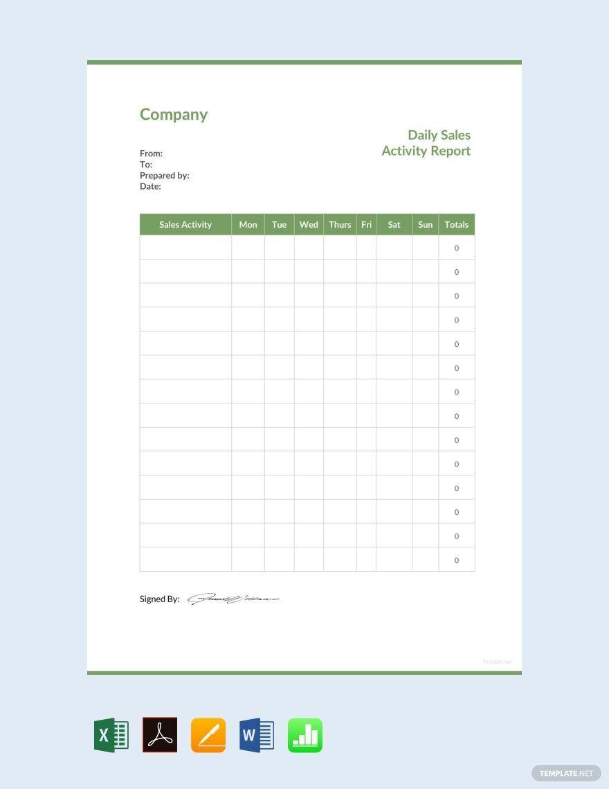 See More 2013 Sales Activity Report Report Template Progress
