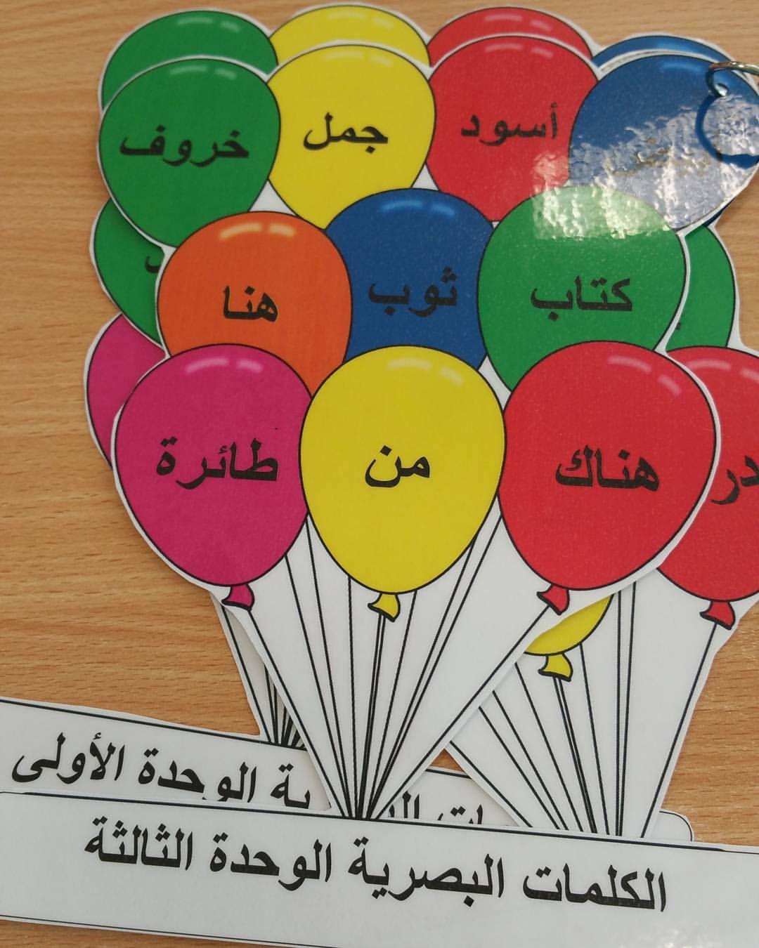 جميلة الشمري On Instagram الكلمات البصرية يعطى الطالب في كل وحدة مجموعة من Alphabet For Kids Arabic Alphabet For Kids Learning Arabic