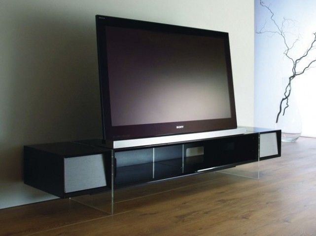 meuble tv design noir meuble tele pinterest meuble tv deco meuble tv et tv. Black Bedroom Furniture Sets. Home Design Ideas