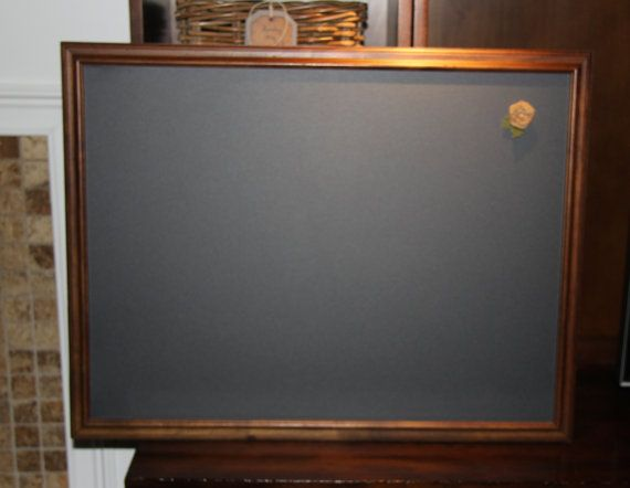 large vintage magnetic rustic wood framed chalkboard by poshpilferetsy - Wood Framed Chalkboard