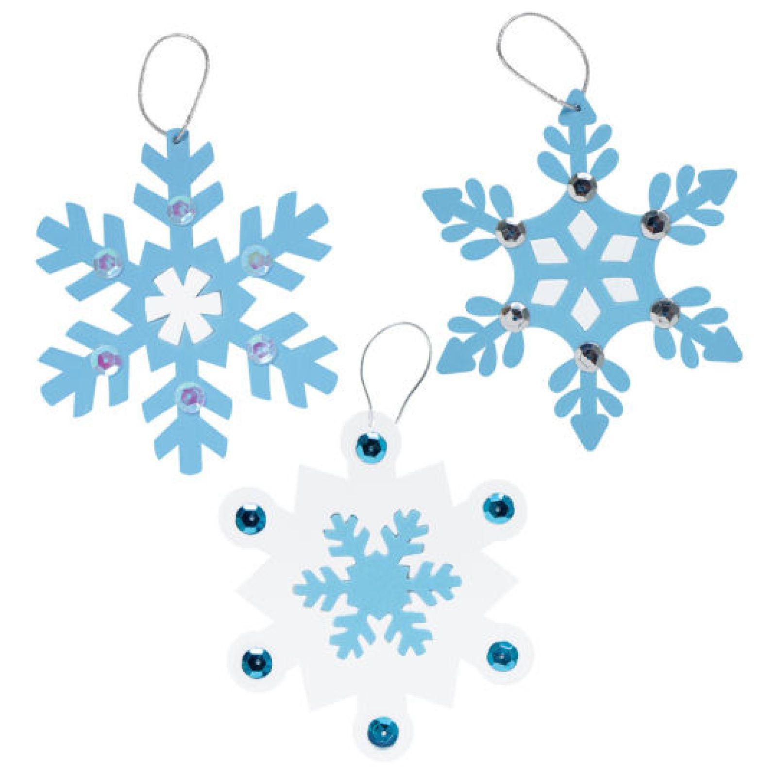 Snowflake christmas ornaments bulk - Creatology Holiday Snowflakes Foam Ornament Kit