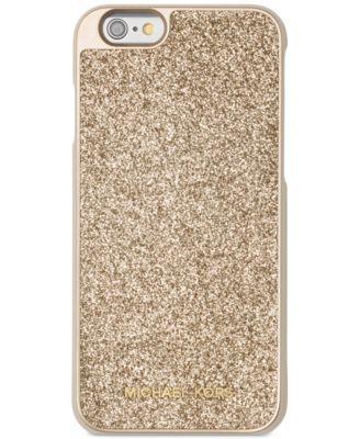MICHAEL Michael Kors Glitter Snap-On iPhone 6 Cover | macys.com