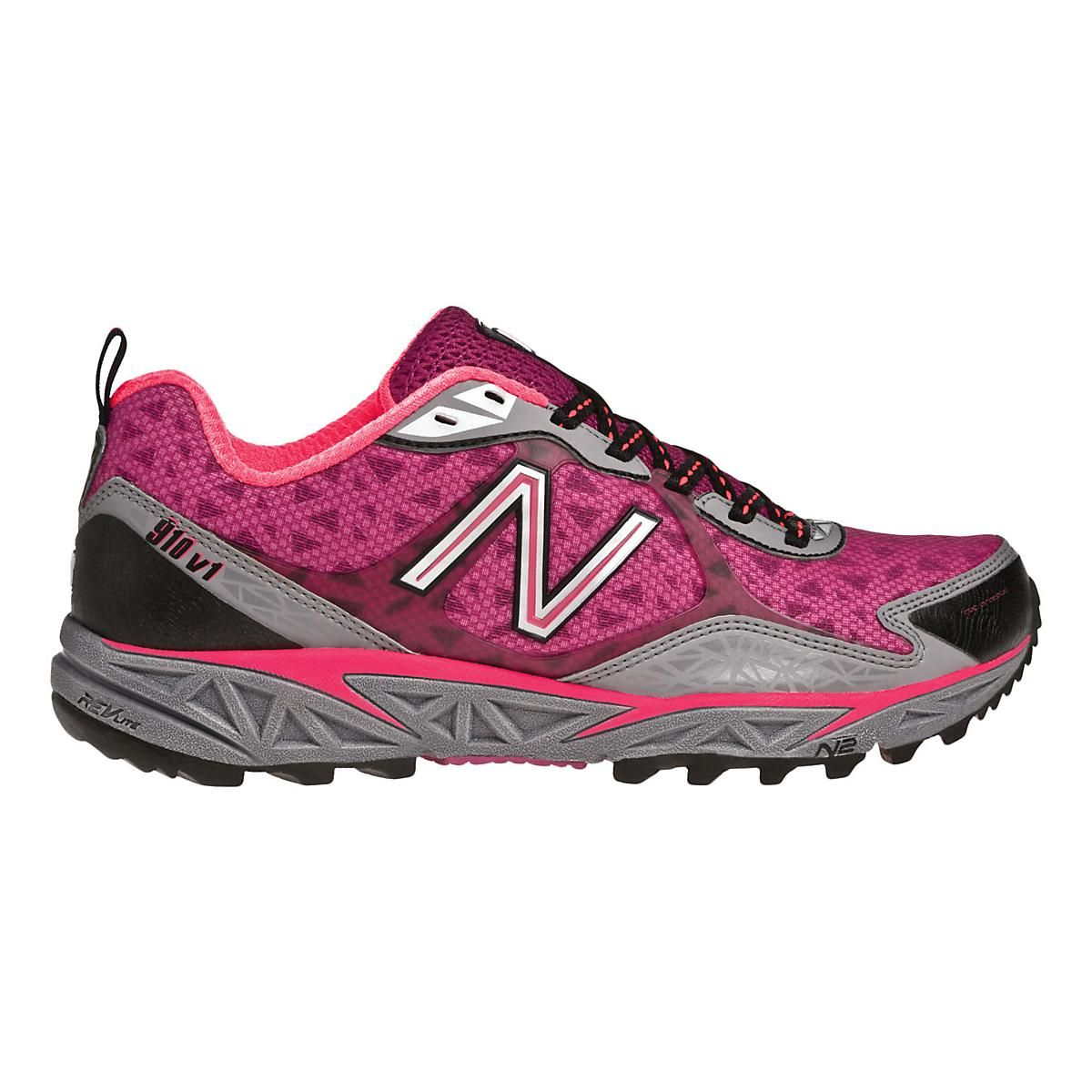 Conquer the trails, coasting in cushioned comfort and secure stability with  the womens New Balance