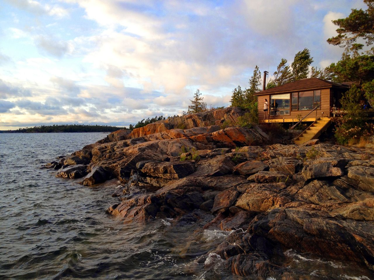 island cabin on georgian bay, ontario, canada, from submitter