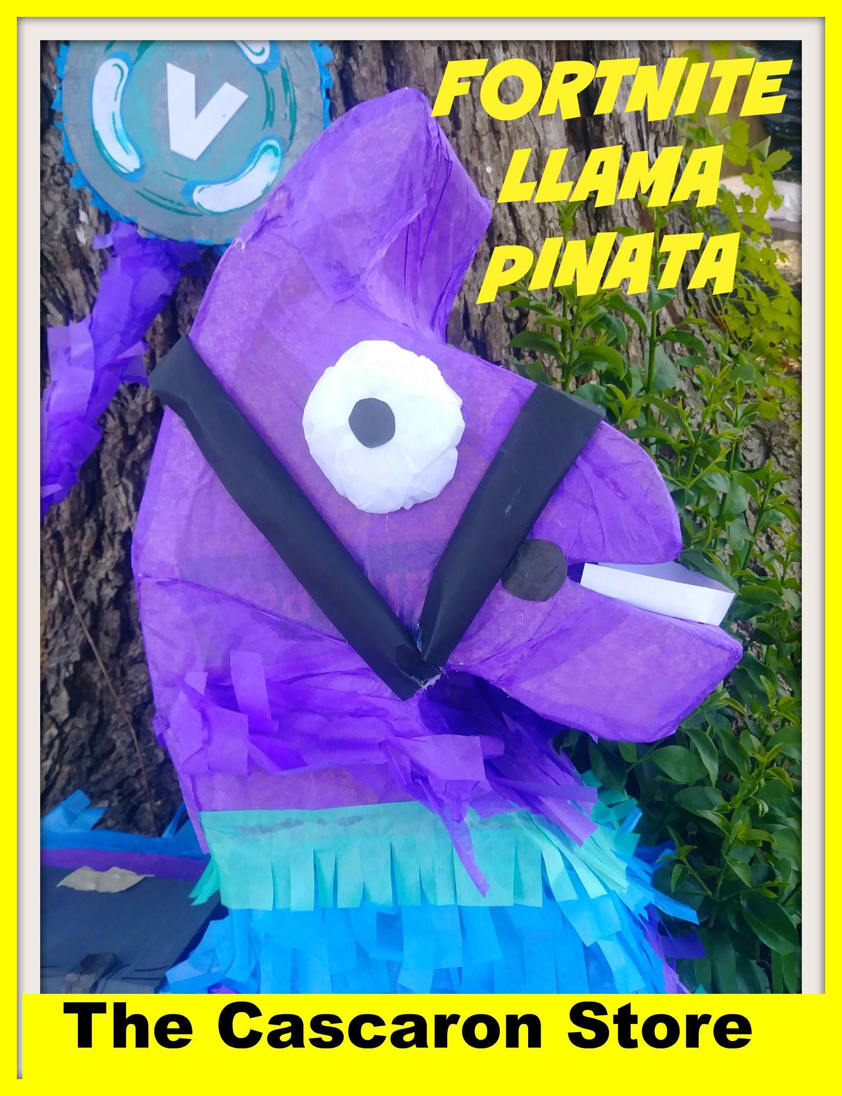 FORTNITE llama pinata, party ideas, DIY, custom fortnite pinata