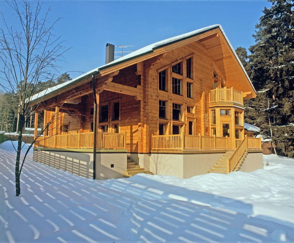 Project scandinavia high quality laminated log house from finland provided by rovaniemi log house