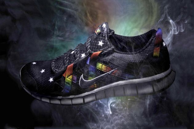 atmos x Nike Free Powerlines+ Black/Rainbow: As progressively designed  sneakers seem to further dominate the current footwear market, we are shown  this ...