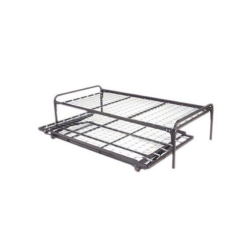 Duralink twin trundle beds high rise frame pop up Bedroom furniture high riser bed frame