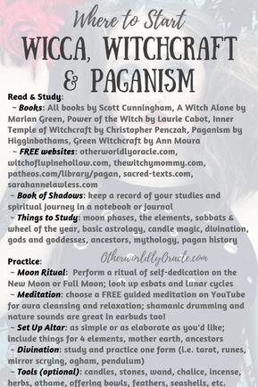 Where to Start: Wicca, Witchcraft, Paganism for the Beginner Pagan #modernwitch