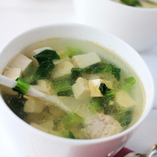 Tofu Vegetable Meatball Soup Recipe