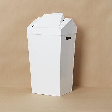 Brendan Ravenhill Dustbin White Market Dustbin Trash Can Kitchen Accessories