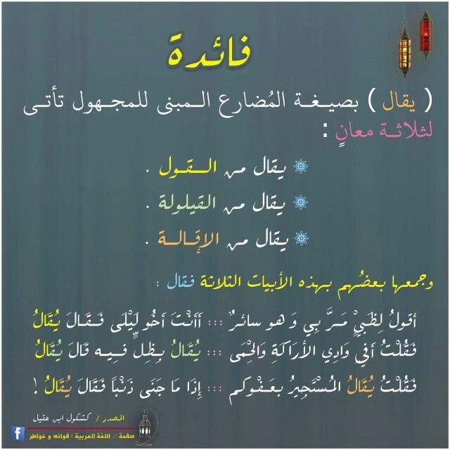 فائدة لغوية من معاني كلمة يقال Write Arabic Writing Quotations