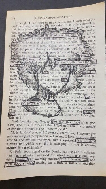 Blackout Poetry by an amazing 7th grader, Izabella