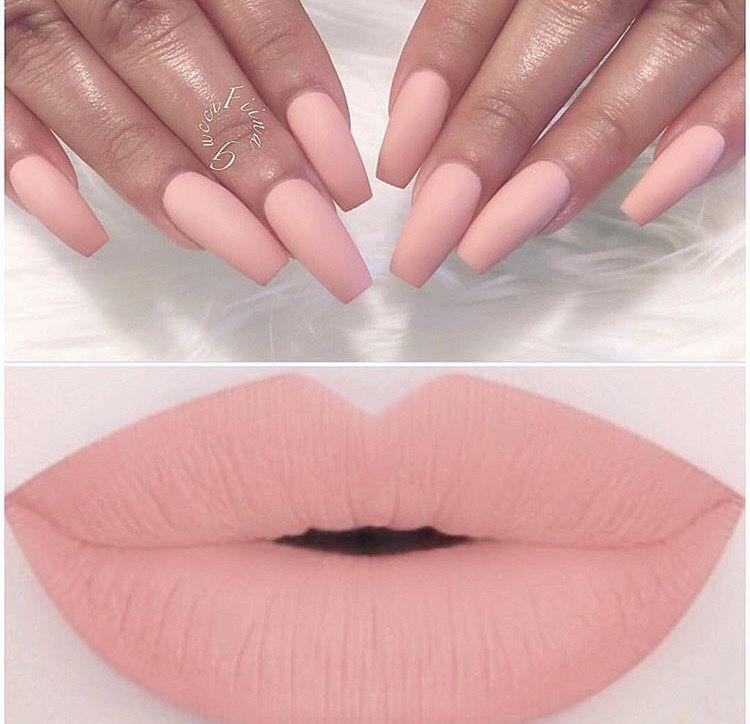 Matte Blush Pink Lips & Nails | Slap On Some Lipstick | Pinterest ...
