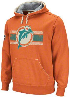 d87e9ad3 Miami Dolphins Orange Vintage Pullover Hooded Sweatshirt | FINS ...