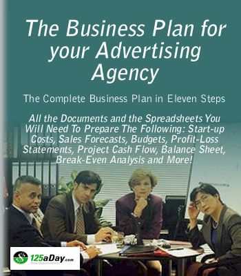 The Business Plan for Your Advertising Agency Small Business/Self - business start up costs spreadsheet