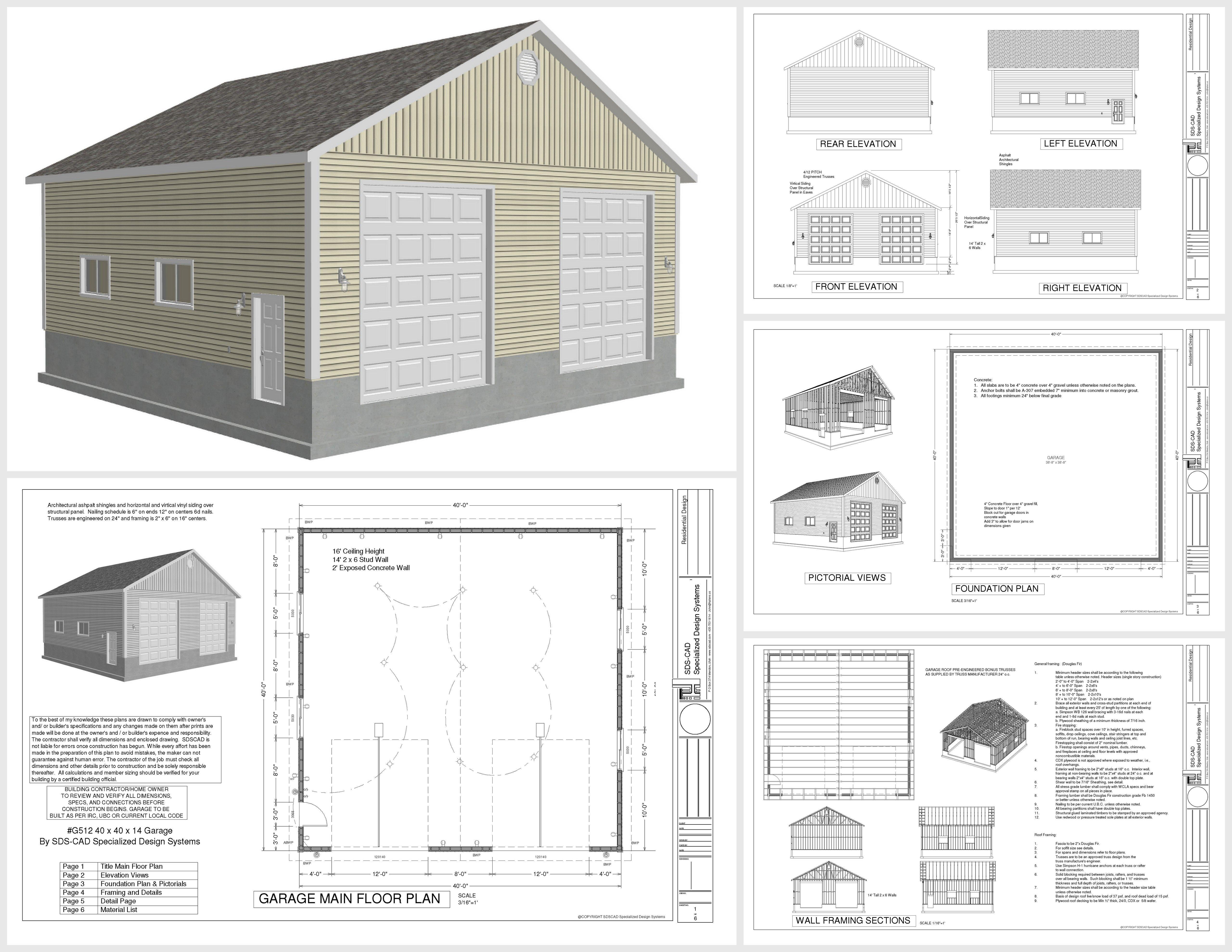 Beautiful Free Garage Plans