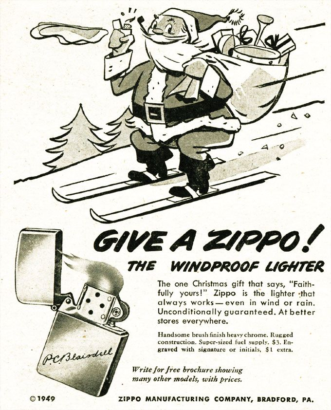 Vintage Zippo Advertisement From 1949 Vintage Advertisements Retro Ads Old Advertisements