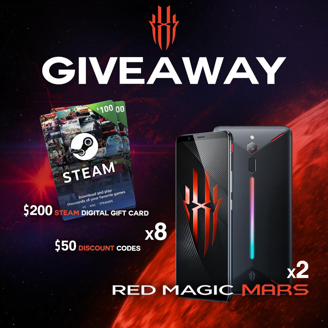 Nubia February Giveaway (Red Magic Mars Gaming Phone, 200