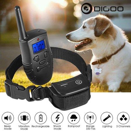 Digoo Dog Training Collar Rechargeable Waterproof Pet Dog Training
