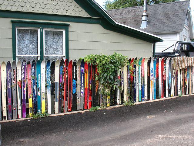 Ski Fence By Vilseskogen Via Flickr Idaho Springs Colorado Recycling Ski Decor Skiing