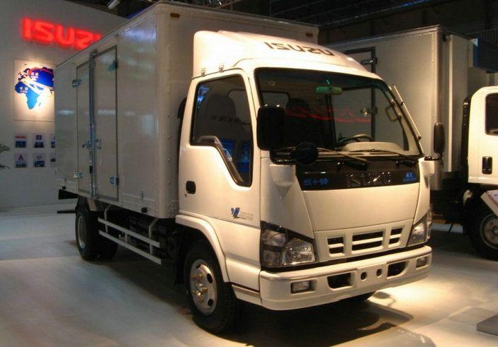 Isuzu 600p White Color Cargo Van Truck Cargo Van Trucks Work Truck