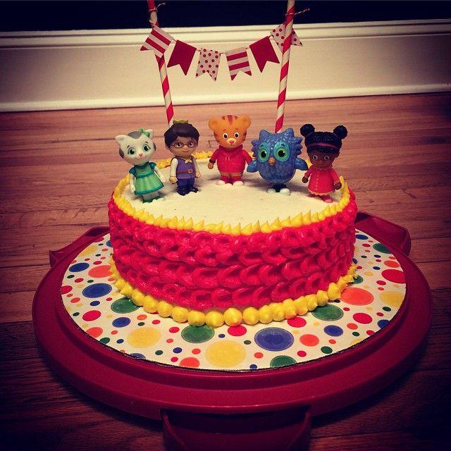Astounding My Little Guys Grriffic 2Nd Birthday Daniel Tiger Birthday Cake Funny Birthday Cards Online Elaedamsfinfo