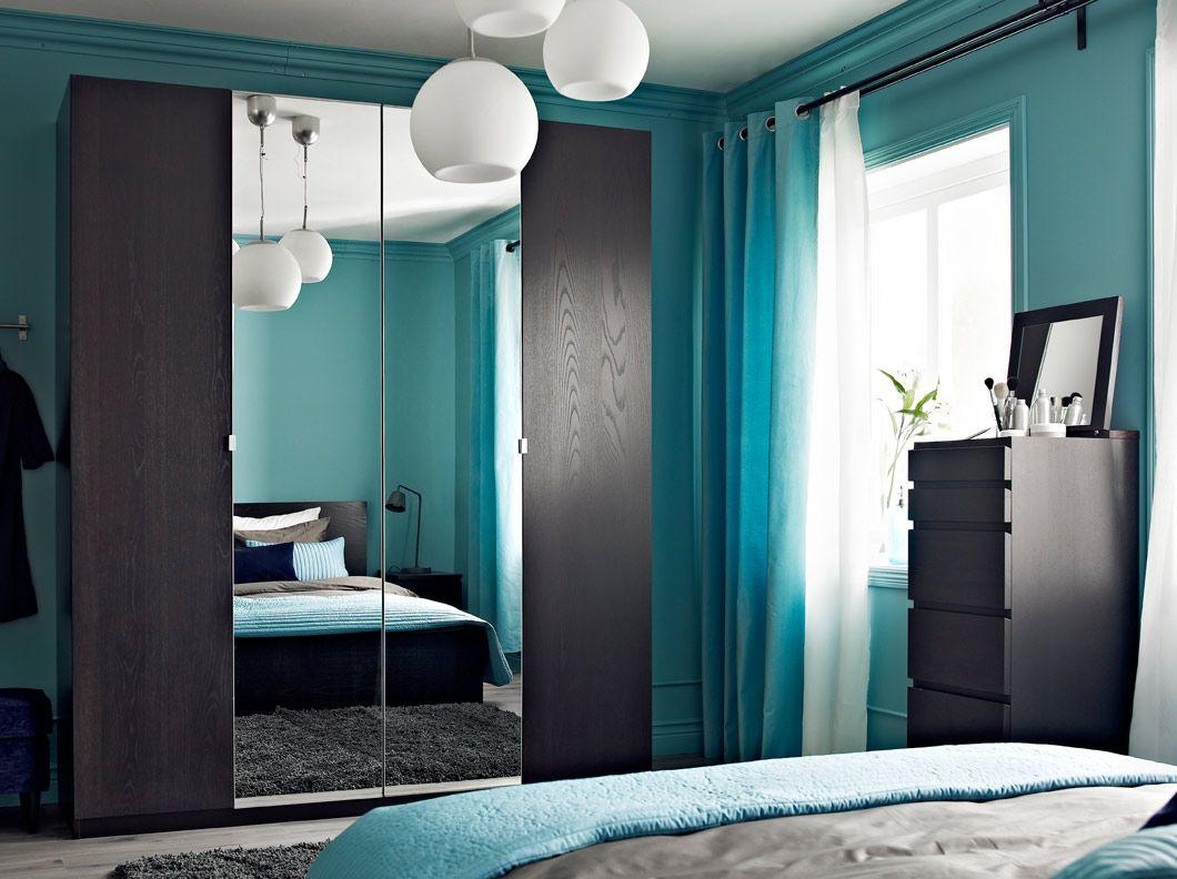 Pax Black Brown Wardrobe With Nexus Black Brown Doors And