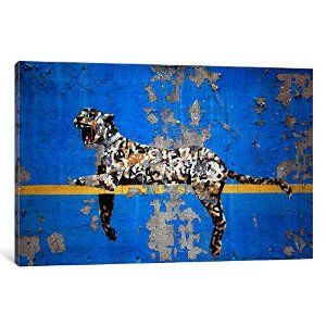 Amazon.com: iCanvasART BNK49 Yankee Stadium Tiger by Banksy Canvas Print, 26-Inch by 18-Inch, 0.75-Inch Deep: Posters & Prints