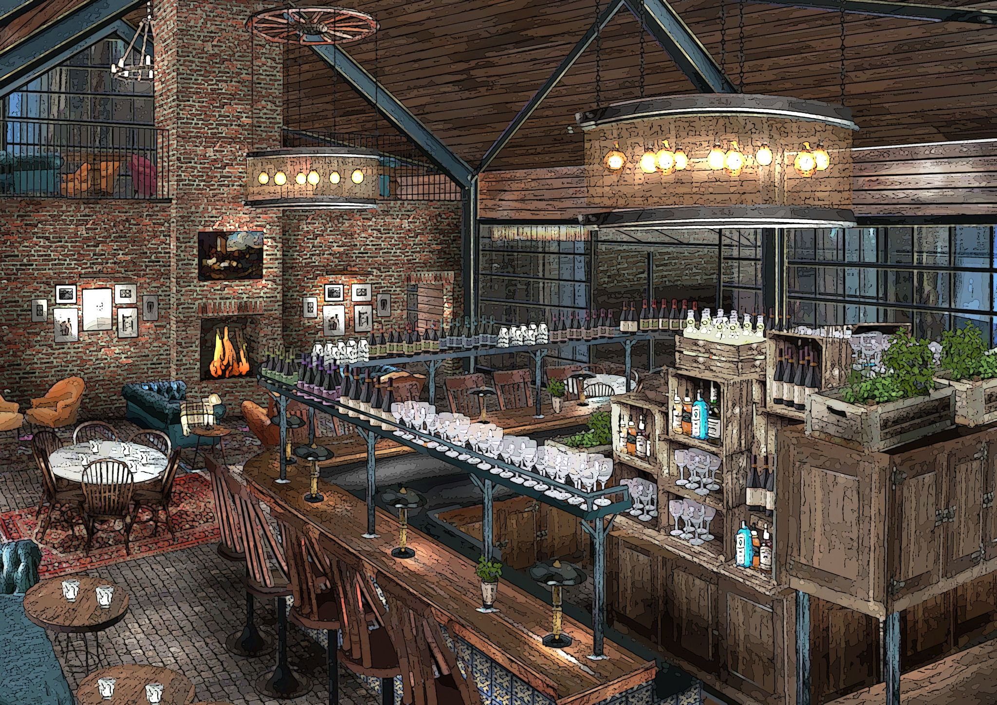 SoHo Farmhouse Bar Or We Could Move To The Country Farmhouse Restaurant Farmhouse Cafe